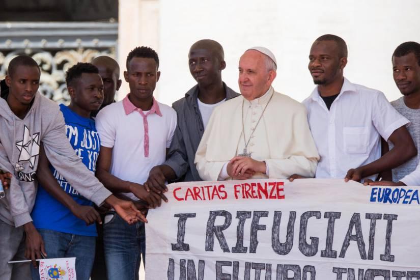 papa sull'immigrazione