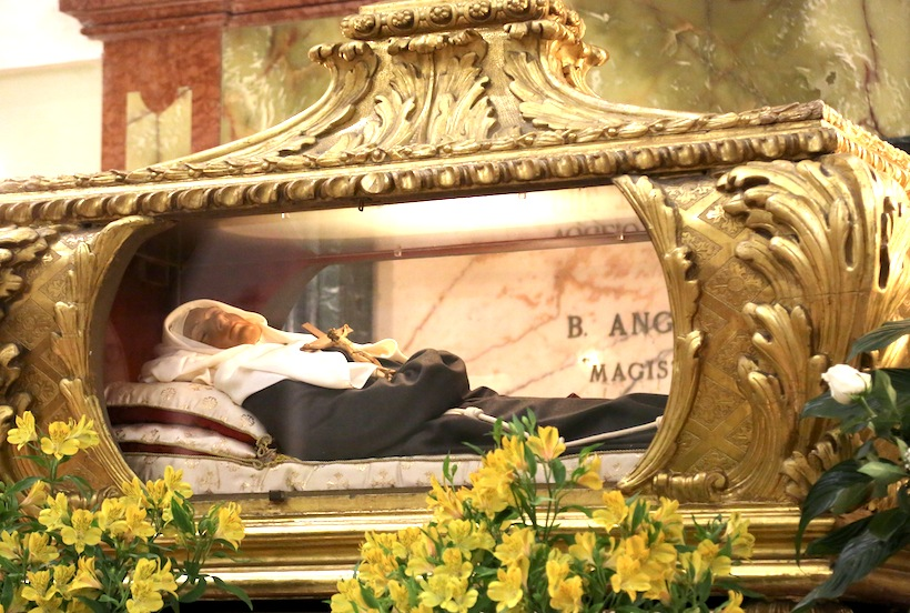 Sant'Angela da Foligno e Gesù Bambino: 7 giorno di novena di Natale