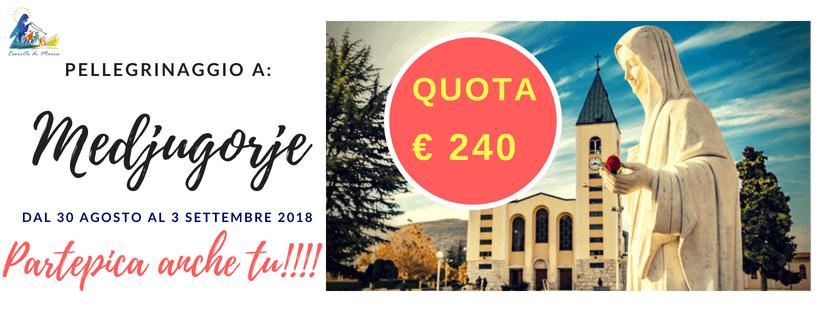 Pellegrinaggio a Medjugorje dal 30 agosto al 3 settembre 2018
